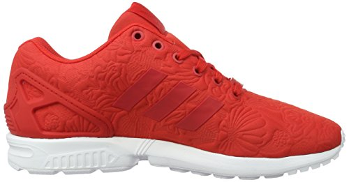 adidas Zx Flux, Sneakers Basses Mixte Adulte Rouge (Vivid Red/Vivid Red/Core Black)