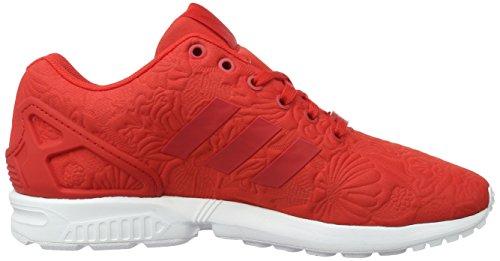 adidas ZX Flux, Baskets Basses Mixte Adulte Rouge (Vivid Red/Vivid Red/Core Black)