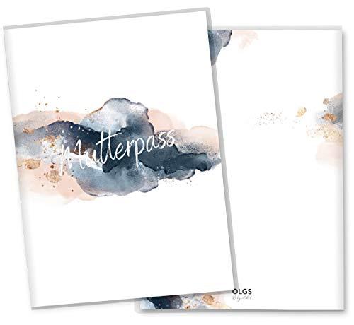 Mutterpasshülle 3-teilig Motiv Golden Glamour Splash Mutterpass Hülle Schwangerschaft Geschenkidee (Mutterpass ohne Personalisierung, Splash-03)
