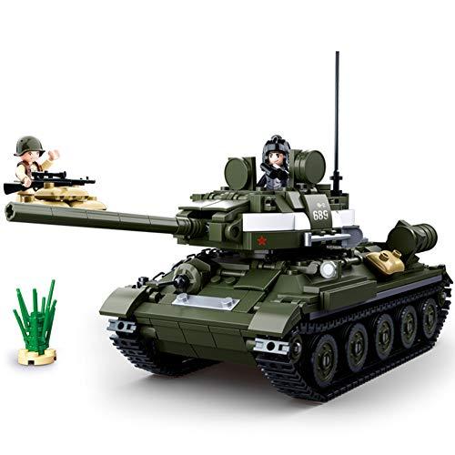 Yyz Militärische Serie T-34 \ 85 mittlerer Panzer Panzerwagen Kinder Puzzle Pack Montageblöcke Modell Geburtstagsgeschenk