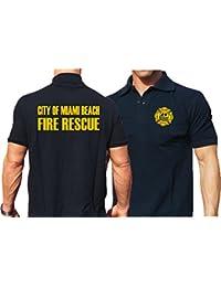 Polo bleu marine, Miami Beach Fire Rescue