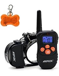Ownpets 330 Yardas de Sonido y Vibración Collar de Adiestramiento para Perro, Recargable y Impermeable, Ninguna Función de Descarga Eléctrica