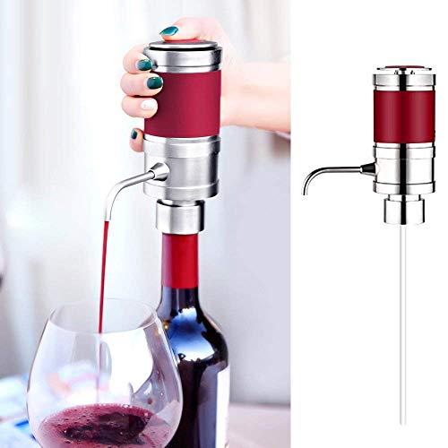 Guotail Decantador eléctrico dispensador de Vino portátil instantáneo Vino eléctrico espíritu aireador Aireadora dispensador decantador Pourer un Toque automático de Verter Vino Rojo y Blanco Regalo