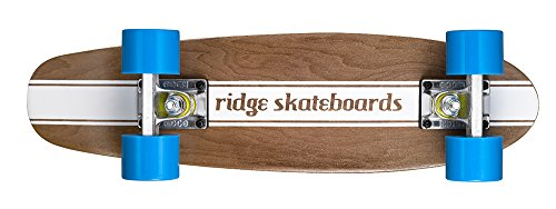 Ridge Skateboards Maple Mini Cruiser- NR4 Skateboard, Blu
