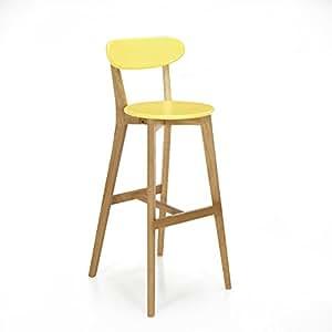 Siwa Chaise de bar design scandinave coloris jaune Jaune - Alinea 49.0
