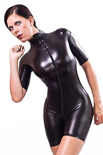 lack-latex-look-catsuit-overall-ganzanzug-kurz-gr-l