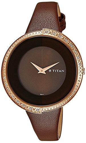 41susG4C0FL - Titan 9943WL02 Purple Brown Women watch