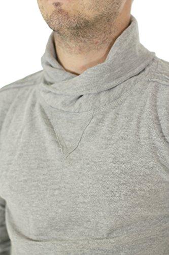 Japan Rags T-Hemd Supply Grau Melange Grau - Grau