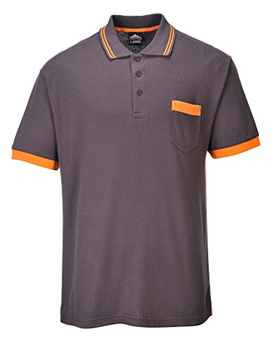 Portwest TX20GRRL große Texo Contrast shirt_p Polo Gr. XXX-Large, Blau - Navy Grau - Dunkelgrau