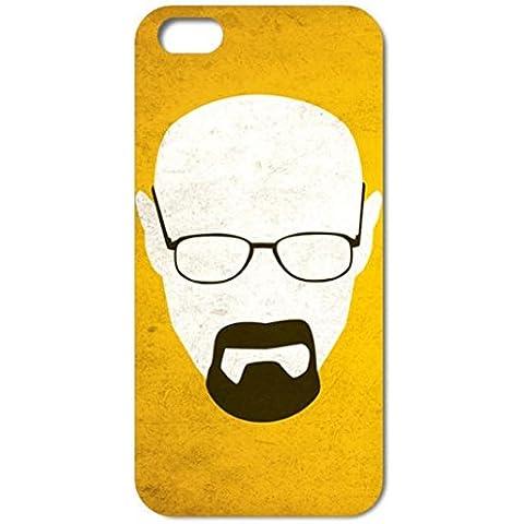 NdB 1357 - Cover Case Custodia per iPhone 5 e 5S Stampa Walter White Heisenberg Nera BrBa - Rigida