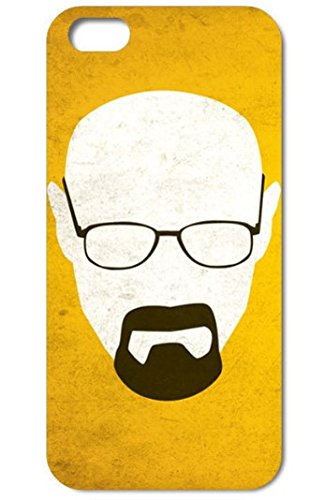 NdB 1364 - Cover Case Custodia per iPhone 4 e 4S Stampa Walter White Heisenberg Nera BrBa - Rigida