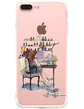 Vanki® Custodia iPhone 7 Plus 5.5 Pollici Trasparente TPU Gel Silicone Bumper Protettivo Skin Case Cover Ultra-sottile...