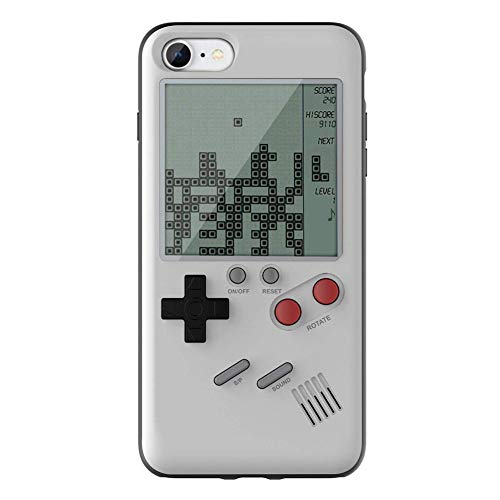 Youn tetris game machine phone case game console cover (white for iphone 7 8)