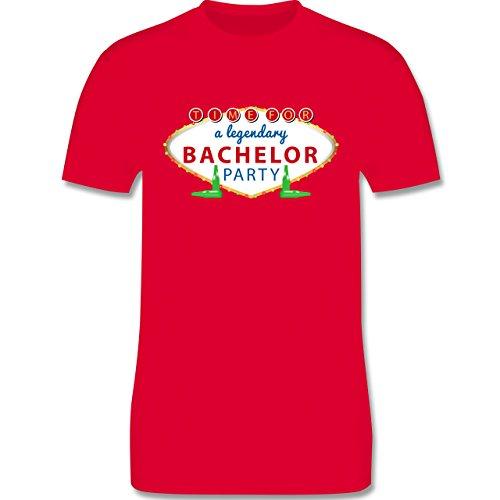 JGA Junggesellenabschied - Bachelor Party Schild - Herren Premium T-Shirt Rot