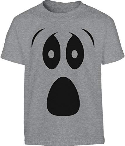 ween Kostüm Kinder Shirt Ghost Kinder T-Shirt 11-12 Jahre (152cm) Grau ()