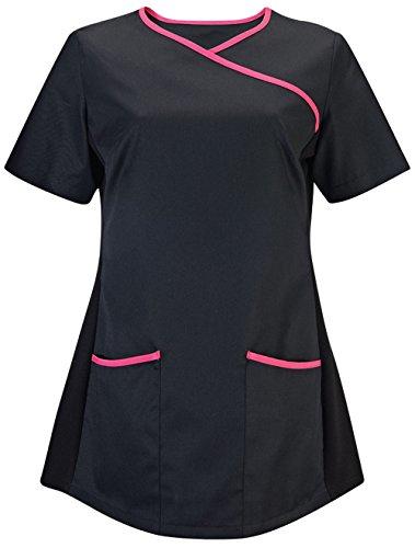 Alexandra da camice elasticizzato Black/ Pink M