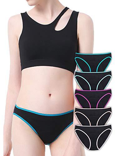 Intimate Portal Damen Leichte Absorbierend Pants Slips Für Periode Menstruation Inkontinenz Panties Perioden Unterwäsche Schwarz 5er-Pack XL