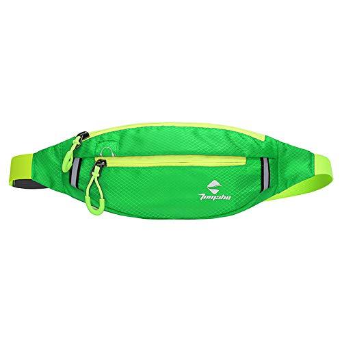 Outdoor wasserdichte Nylon Sport Lauftaschen Fitness Handytasche Multifunktions persönlichen Reitrucksack grün