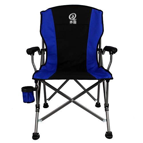 Blaue Strand-klapp-stühle (LZYZZZ Liegestuhl Angelstuhl Strand Outdoor Klapp Camping Mittagspause Stuhl, Blau, 60X60X96CM)