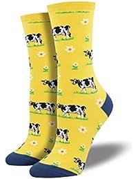 Vaches taille unique pour la plupart des chaussettes jaunes pour dames e85efeb656b