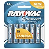 -- Alkaline High Energy Batteries, AA, 6/Pk