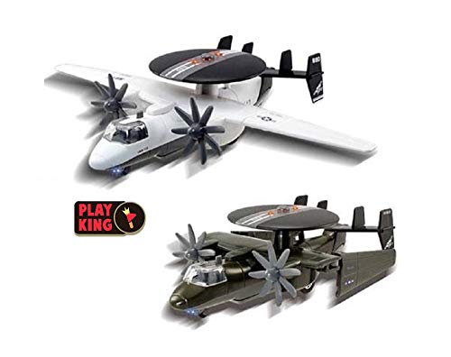 Playking Smart Toys Air Force AWACS Radar Aircraft Plane, Die Cast Metal Children's Toys with Lights and Sounds, Multicolor (Pack of 1)