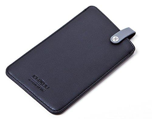 ICH&DU Smartphone-Case Sydney | Zubehör für Original Apple iPhone 6 Plus, Apple iPhone 6S Plus, Huawei Ascend Mate 7 | Handy-Hülle aus PU-Leder in schwarz | mit flexibler Schlaufe und beidseitig funkt schwarz