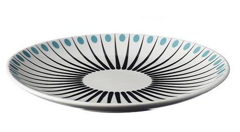 Superliving Amanda Plate White/Aqua