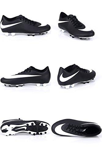 Nike - Jr Bravata (V) Fg-r, Scarpe da calcio Unisex – Bimbi 0-24 Black/white-white