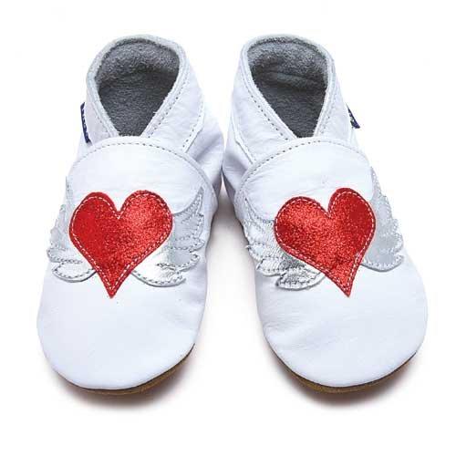 Inch Blue - 1805 XL - Chaussures Bébé Souples - Tattoo Heart - Blanc - T 22-23 cm - 18-24 mois