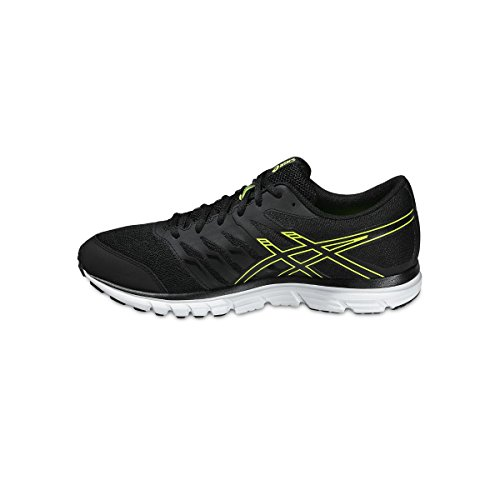 Asics Gel-zaraca 4, Herren Laufschuhe Noir (black/onyx/flash yellow 9099)
