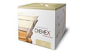 Chemex Papier-Filter FC-100, runde Filter für die 6, 8 und 10 Tassen-Karaffe, 100 Stück