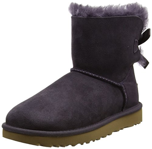 UGG Australia Stivaletto Mini Bailey Bow Grigio Scuro EU 36 (US 5)