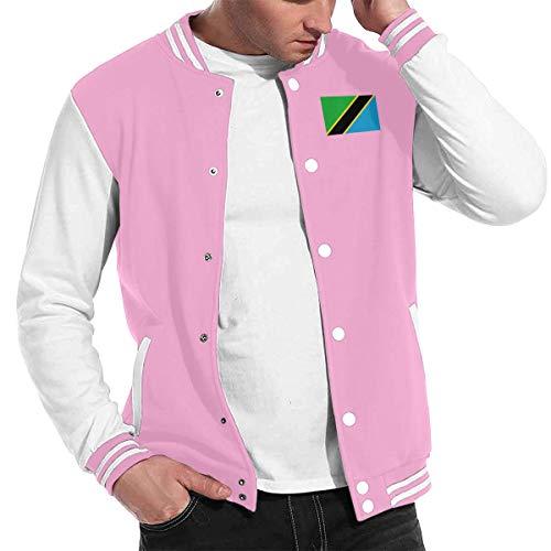 Love Lambert Mode Unisex Baseballuniform Jacke Sport Mantel Tansania Flagge Herren Damen Erwachsenen Sweatshirt Outwear (Green Coat Olive Pea)