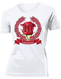 HOCHZEITSTAG - ROSENHOCHZEIT 10 JAHRE EHE T-Shirt Damen S-XXL