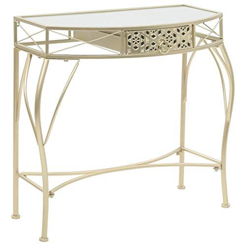 Tuduo tavolino laterale in stile francese in metallo 82x39x76 cm oro design unico, moderno e elegante tavolo consolle ingresso