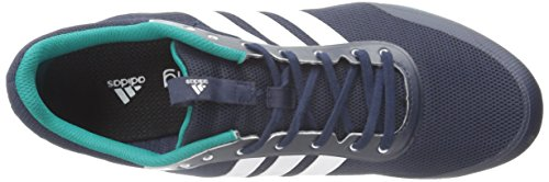 Adidas Performance Distancestar scarpa da corsa, nero / bianco / nero, 6,5 M Us Collegiate Navy/White/Green
