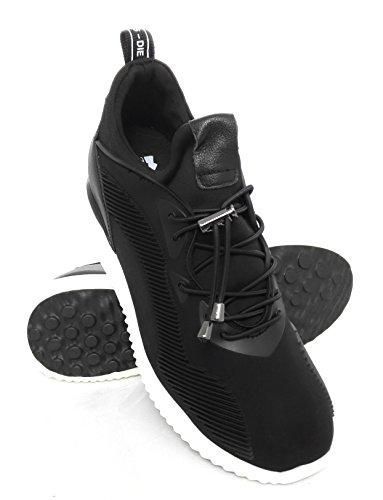 ZERIMAR Scarpe delle donnecon aumentato interno di 7 cm stile sportivo Realizzata in pelle di alta qualità 100% pelle ¡ATTENZIONE OFFERTA SPECIALE 7,5 ANNIVERSARIO! Colore Nero Nero
