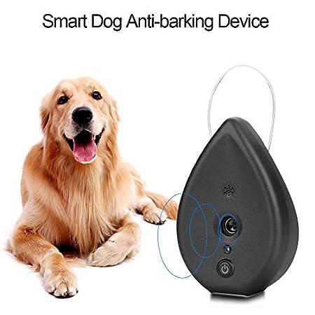 Cocoarm Ultraschall Anti Bellen Gerät Tragbare Ultraschall Smart Schalldämpfer Bark Abschreckung Control Bellen Limiter für Indoor Outdoor Training Hund (Schwarz)