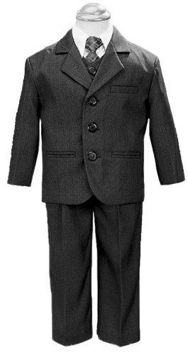 Boy 's 3Taste 5Teile Anzug mit Hemd, Weste und Krawatte, 3710, Grau, 3710 38 (Husky Baby Kostüm)