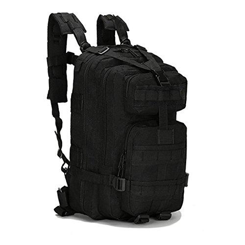 Outerdo tattico militare zaini zaino escursione di campeggio trekking outdoor sport bag 30l nylon 600d multicolor nero