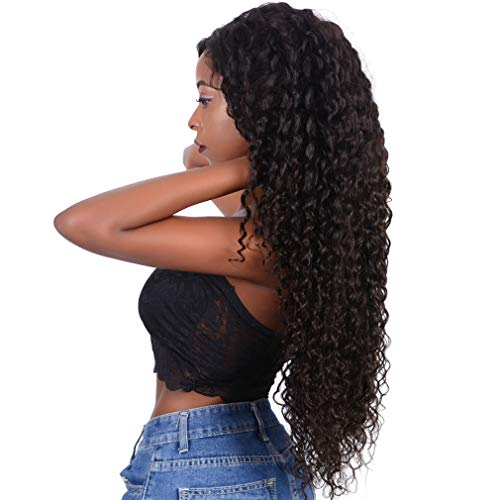 NIUDINNG 360 Lace Frontal Wig Grad 9A Free Part Weich Haare Pre Plucked Natural Hairline mit Baby Hair Deep Wave Brasilianischen Menschliches Haar Lange Top Hochwertiges Haar 28 zoll