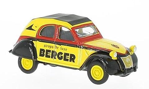Citroen 2CV AZLP, jaune/noir, Cycliste (F), 1959, voiture miniature, Miniature déjà montée, Norev 1:64