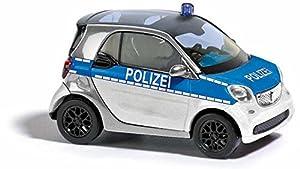 Busch 50710-Smart Fortwo Coupé C453, Policía, Vehículo