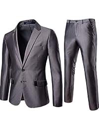 3b71271e203 conqueror Costume 3 pièces Costume Blazer Business Costume Trois-pièces  Veste +Gilet +Pantalon