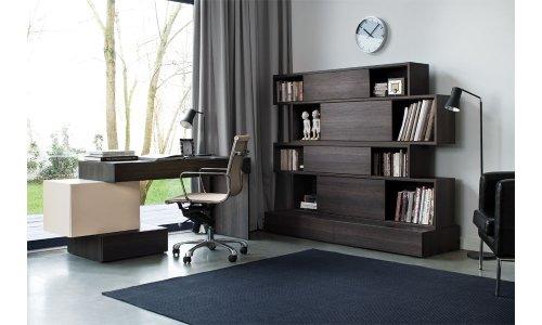 QMM TraumMöbel Büroeinrichtung komplett Büromöbel Set A PHANTASY Arbeitszimmer 5-teilig Schreibtisch Regal TV-Schrank