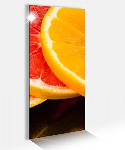 Acrylglasbild 40x100cm Orange Obst Scheiben Frucht Küche Zitrone Acrylbild Glasbild Acrylglas Acrylglasbilder 14A2567, Acrylglas Größe2:40cmx100cm