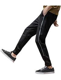 Pantalón para Hombre Slim Jogging Casual Algodón,Hombres Suelto Ocio Puntos Casual Harun Elástico Cinturones Pequeña Los pies Ropa de Deporte Pantalones