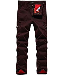 SSLR Jeans Homme Pantalon Cargo Multi-poches Denim Casual