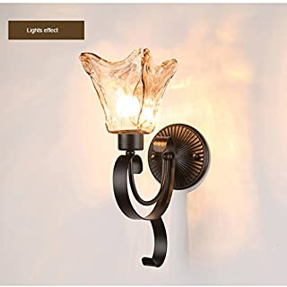 WXH-wall lamp American Wall lamp Rural Rustic Living Room Background Decorative Lights Aisle Lights Bedroom Wall lamp Warm Creative Bedside lamp